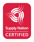 Supply Nation Certified with logo.